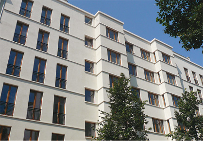 Apartment house, No. 79, Choriner Strasse, Berlin, Frontview